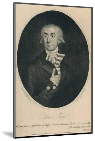 'Thomas Tayler, Master of Lloyd's Coffee House, 1774-1796', (1928)-Unknown-Mounted Photographic Print