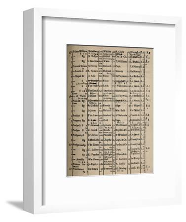 'Page of Register Book 1775-6', (1928)-Unknown-Framed Giclee Print