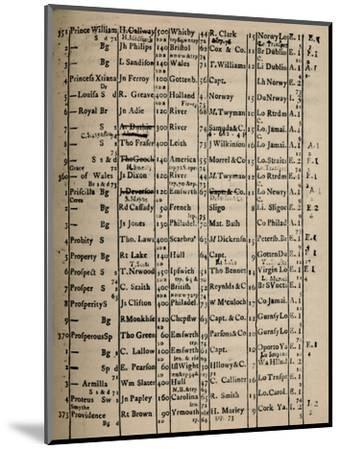 'Page of Register Book 1775-6', (1928)-Unknown-Mounted Giclee Print