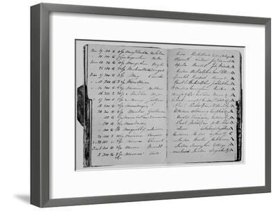 'Risk Book of Mr. John Janson, 1804', (1928)-Unknown-Framed Giclee Print