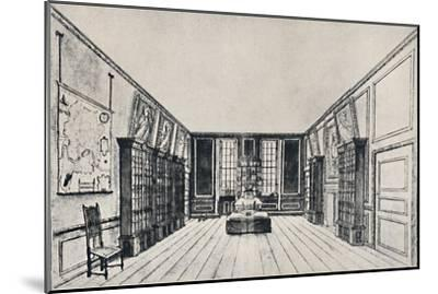 'View Towards the Thames in Samuel Pepys's Library, York Buildings', 1928-Unknown-Mounted Giclee Print