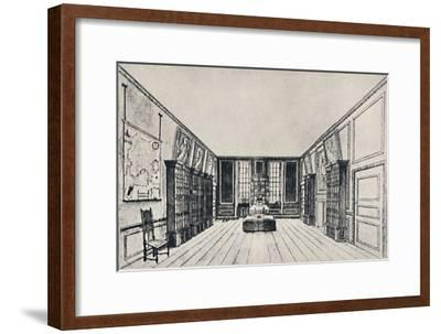 'View Towards the Thames in Samuel Pepys's Library, York Buildings', 1928-Unknown-Framed Giclee Print