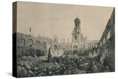 'The Second Royal Exchange After The Fire in 1838', (1928)-Unknown-Stretched Canvas Print