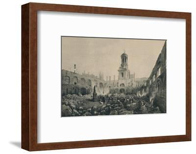 'The Second Royal Exchange After The Fire in 1838', (1928)-Unknown-Framed Photographic Print