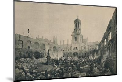 'The Second Royal Exchange After The Fire in 1838', (1928)-Unknown-Mounted Photographic Print