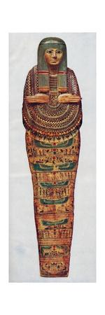 'The Mummy case of a priestess of Ammon-Ra dating from 1600 BC, (c1935)-Unknown-Stretched Canvas Print