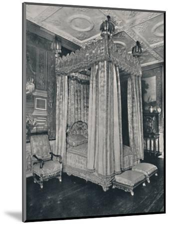 'The King's Bedroom at Knole. Bedstead Made for James I', 1928-Unknown-Mounted Photographic Print