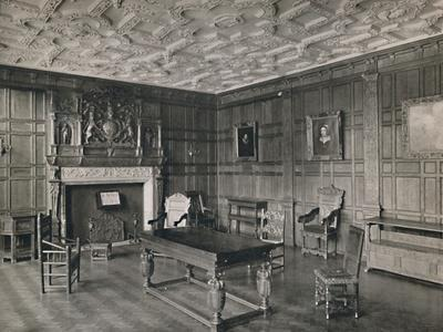 'Panelled Room from the Old Palace, Bromley-By-Bow', 1927-Unknown-Framed Photographic Print