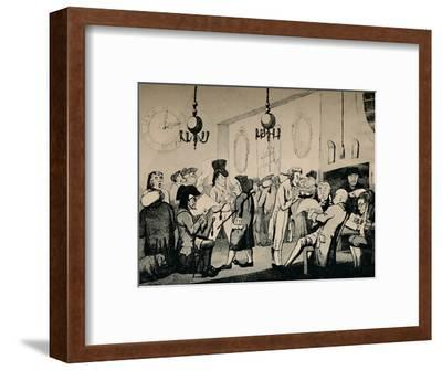 'The Coffee Room at Lloyd's, 1798', (1928)-Unknown-Framed Photographic Print