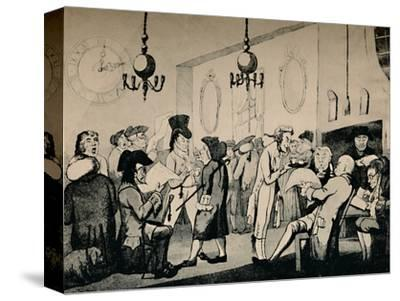 'The Coffee Room at Lloyd's, 1798', (1928)-Unknown-Stretched Canvas Print