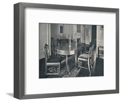 'Hepplewhite Mahogany Dining-Room Furniture', (1760-1770)', 1928-Unknown-Framed Photographic Print