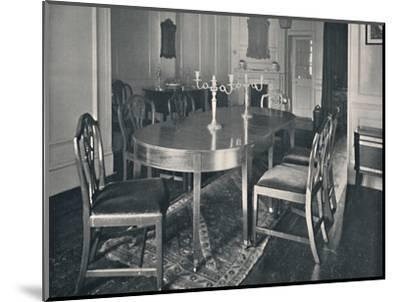 'Hepplewhite Mahogany Dining-Room Furniture', (1760-1770)', 1928-Unknown-Mounted Photographic Print