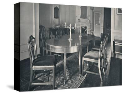 'Hepplewhite Mahogany Dining-Room Furniture', (1760-1770)', 1928-Unknown-Stretched Canvas Print