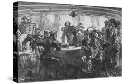 'Signing the Treaty of Nankin', c1880-Unknown-Stretched Canvas Print