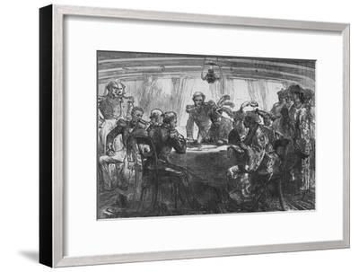 'Signing the Treaty of Nankin', c1880-Unknown-Framed Giclee Print