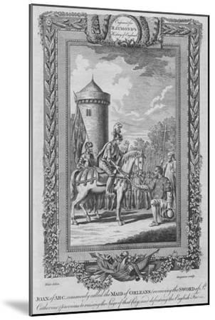 'Joan of Arc commonly called the Maid of Orleans (receiving the Sword of St. Catherine)', c1787-Unknown-Mounted Giclee Print