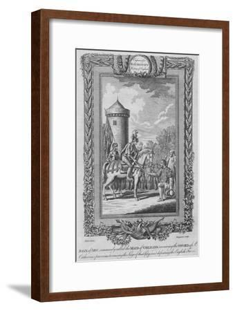 'Joan of Arc commonly called the Maid of Orleans (receiving the Sword of St. Catherine)', c1787-Unknown-Framed Giclee Print