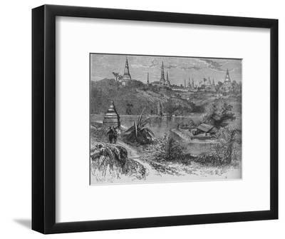 'View near Rangoon', c1880-Unknown-Framed Giclee Print