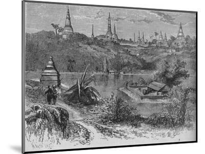 'View near Rangoon', c1880-Unknown-Mounted Giclee Print