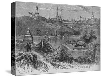'View near Rangoon', c1880-Unknown-Stretched Canvas Print