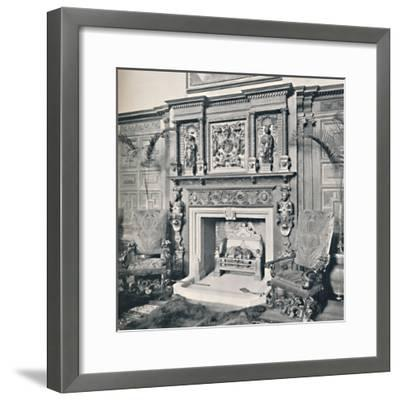 'Chimney-Piece in the Great Hall, Castle Ashby, Northampton', 1927-Unknown-Framed Photographic Print