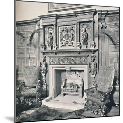 'Chimney-Piece in the Great Hall, Castle Ashby, Northampton', 1927-Unknown-Mounted Photographic Print