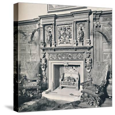 'Chimney-Piece in the Great Hall, Castle Ashby, Northampton', 1927-Unknown-Stretched Canvas Print