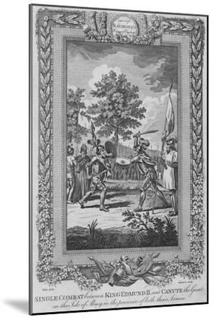 'Single Combat between King Edmund II and Canute the Great on the Isle of Abney', 1787-Unknown-Mounted Giclee Print