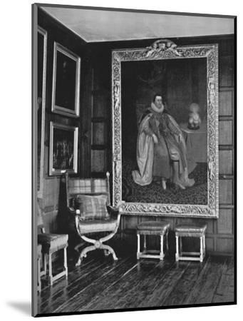 'A Corner of the Leicester Gallery, Knole. With Portrait of James I', 1928-Unknown-Mounted Photographic Print
