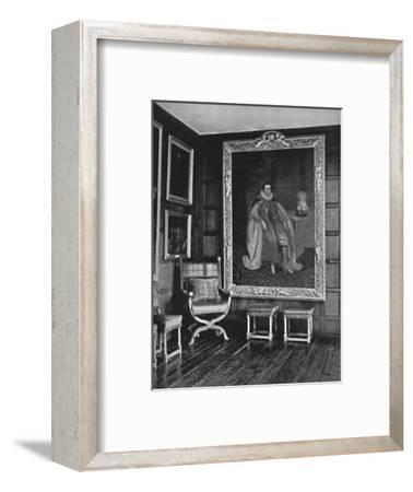 'A Corner of the Leicester Gallery, Knole. With Portrait of James I', 1928-Unknown-Framed Photographic Print