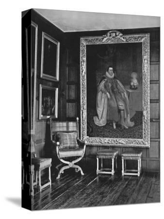 'A Corner of the Leicester Gallery, Knole. With Portrait of James I', 1928-Unknown-Stretched Canvas Print