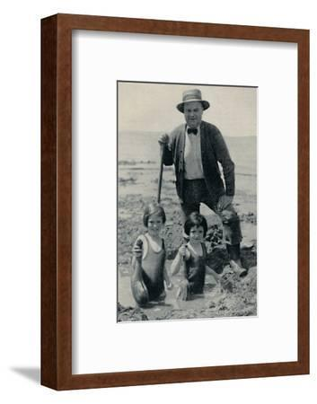 'Hunting the Elusive Geoduck on Puget Sound', c1935-Unknown-Framed Photographic Print