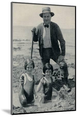 'Hunting the Elusive Geoduck on Puget Sound', c1935-Unknown-Mounted Photographic Print