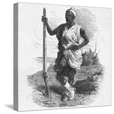 'Warrior of Elmina', c1880-Unknown-Stretched Canvas Print