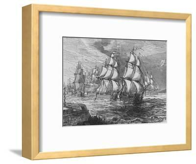'The Squadron Before Amoy', c1880-Unknown-Framed Giclee Print