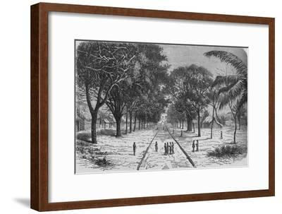 'Village on the West Coast of Africa', c1880-Unknown-Framed Giclee Print