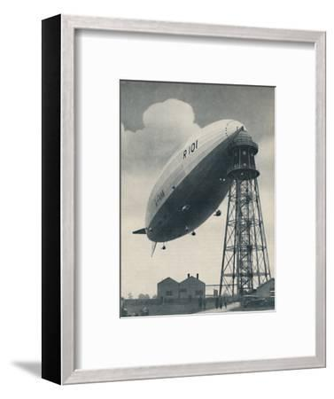 'Floating at the Mast Head, A Mighty Envelope of Invisible Power', c1935-Unknown-Framed Photographic Print