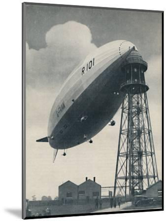 'Floating at the Mast Head, A Mighty Envelope of Invisible Power', c1935-Unknown-Mounted Photographic Print