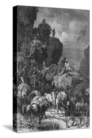 'English Army on the March in Abyssinia', c1880-Unknown-Stretched Canvas Print