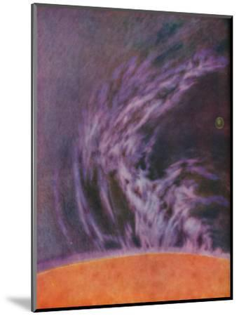 'Immense Eruption of a Solar Prominence 140,000 Miles High', c1935-Unknown-Mounted Giclee Print