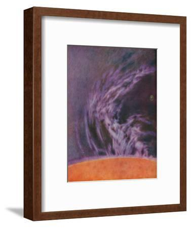 'Immense Eruption of a Solar Prominence 140,000 Miles High', c1935-Unknown-Framed Giclee Print