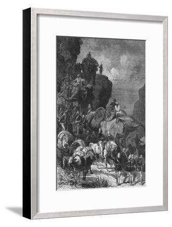 'English Army on the March in Abyssinia', c1880-Unknown-Framed Giclee Print