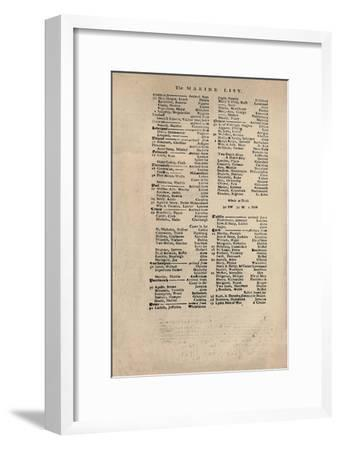 'Facsimile of the Earliest Extant Copy of Lloyd's List', c1740s, (1928)-Unknown-Framed Giclee Print
