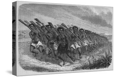 'New Zealand War-Dance', c1880-Unknown-Stretched Canvas Print