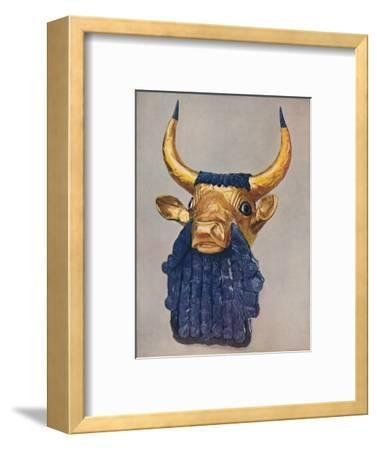 'Oldest Known Examples of the Goldsmith's Art: Masterpieces of Sumerian Culture', c1935-Unknown-Framed Giclee Print