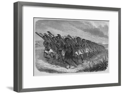 'New Zealand War-Dance', c1880-Unknown-Framed Giclee Print