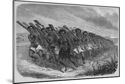 'New Zealand War-Dance', c1880-Unknown-Mounted Giclee Print