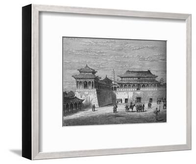 'The Emperor's Palace, Pekin', c1880-Unknown-Framed Giclee Print
