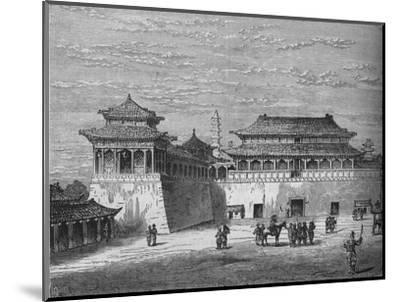 'The Emperor's Palace, Pekin', c1880-Unknown-Mounted Giclee Print