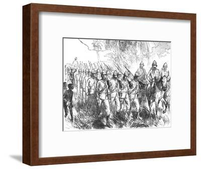 'On the march from Elmina', c1880-Unknown-Framed Giclee Print